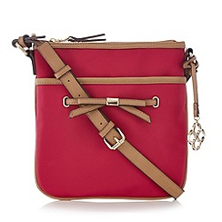 Bailey & Quinn - Dark pink bow detail cross body bag