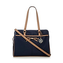 Bailey & Quinn - Navy bow detail three part shoulder bag