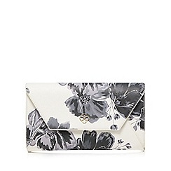 Bailey & Quinn - White floral print clutch bag