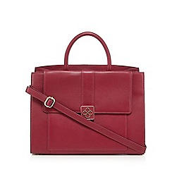 Bailey & Quinn - Dark pink leather logo plate grab bag