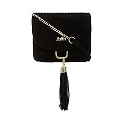 Faith - Black leather saddle bag