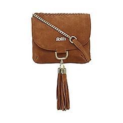 Faith - Tan suede saddle bag