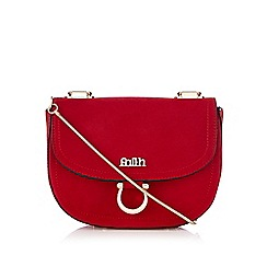 Faith - Red metal chain saddle bag