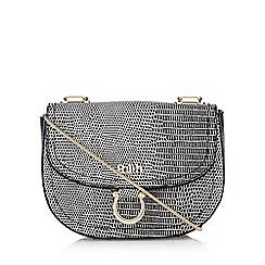 Faith - Black mock snakeskin saddle bag