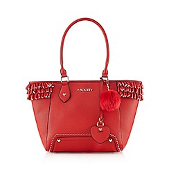 Floozie by Frost French - Red frilled tote bag