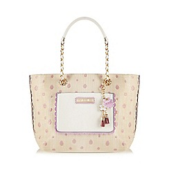 Floozie by Frost French - Cream straw spot print tote bag