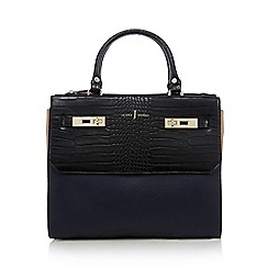 J by Jasper Conran - Navy croc-effect grab bag