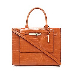 J by Jasper Conran - Orange croc-effect grab bag