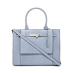 J by Jasper Conran - Light blue croc-effect large grab bag