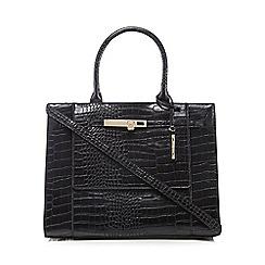 J by Jasper Conran - Black croc-effect large grab bag