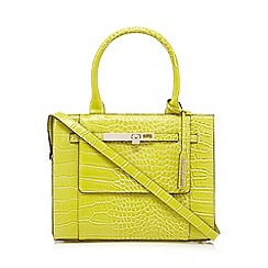 J by Jasper Conran - Lime croc-effect small grab bag