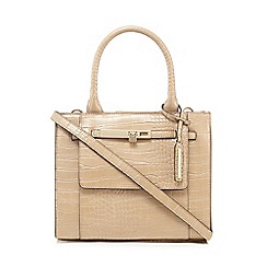 J by Jasper Conran - Natural croc-effect small grab bag