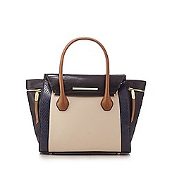 J by Jasper Conran - Navy textured colour block grab bag