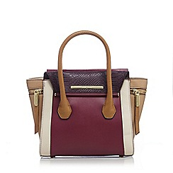 J by Jasper Conran - Dark purple winged small grab bag
