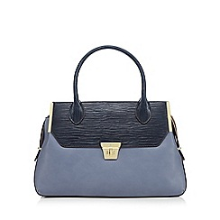 J by Jasper Conran - Light blue mock croc tote bag