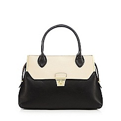 J by Jasper Conran - Black twist lock detailed tote bag