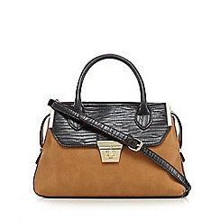 J by Jasper Conran - Tan mock croc work bag