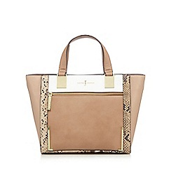 J by Jasper Conran - Beige front panel small shopper bag