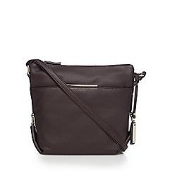 J by Jasper Conran - Dark brown leather cross body bag
