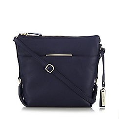 J by Jasper Conran - Navy metal bar cross body bag