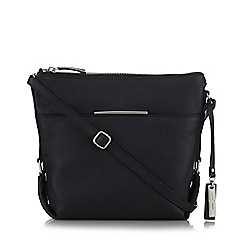J by Jasper Conran - Black metal bar cross body bag