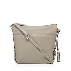 J by Jasper Conran - Taupe leather cross body bag