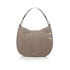 J by Jasper Conran - Grey suede slouch shoulder bag