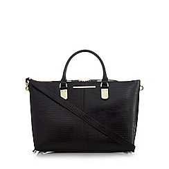 J by Jasper Conran - Black side bar croc-effect grab bag