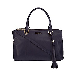 J by Jasper Conran - Navy leather tote bag