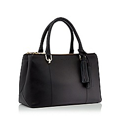 J by Jasper Conran - Black leather tote bag