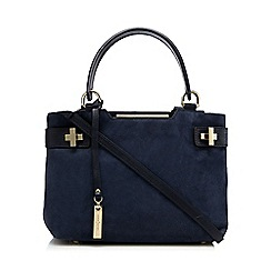 J by Jasper Conran - Navy suede grab bag