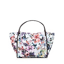 Bailey & Quinn - White floral print shopper bag