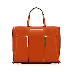 J by Jasper Conran - Orange patent bar detail shopper bag