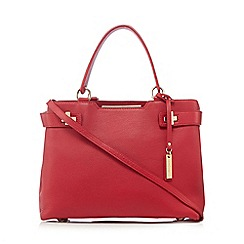 J by Jasper Conran - Red leather twist lock detail grab bag