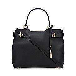 J by Jasper Conran - Black leather twist lock detail grab bag
