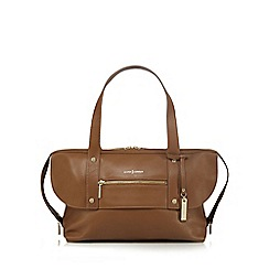 J by Jasper Conran - Tan zip detail shoulder bag
