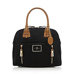 J by Jasper Conran - Black double zip kettle bag