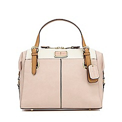 J by Jasper Conran - Light pink large grained grab bag