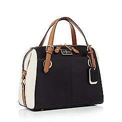J by Jasper Conran - Black and white large grained grab bag