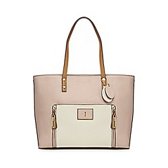J by Jasper Conran - Light pink contrast handle large shoulder bag