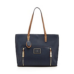 J by Jasper Conran - Navy contrast handle large shoulder bag