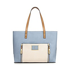 J by Jasper Conran - Light blue contrast handle large shoulder bag