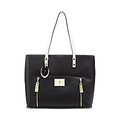 J by Jasper Conran - Black contrast handle large shoulder bag