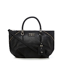 J by Jasper Conran - Black side zip bowler bag