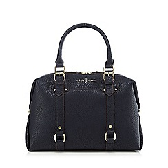 J by Jasper Conran - Navy buckle detail bowler bag