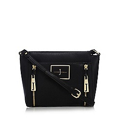 J by Jasper Conran - Black double zip cross body bag