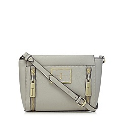 J by Jasper Conran - Grey double zip cross body bagá