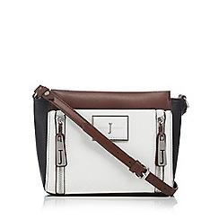 J by Jasper Conran - Dark brown double zip cross body bag