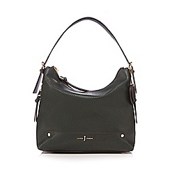 J by Jasper Conran - Dark green zip detail shoulder bag