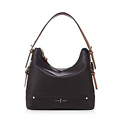 J by Jasper Conran - Black zip detail shoulder bag